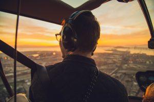 Aus der Sicht des Hubschrauberpiloten