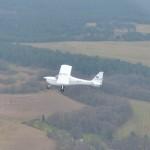 Die FK 9 D-MORR in der Luft an der so genannten Position zur Piste 19.