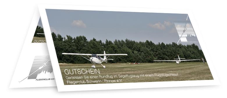 Segelfluggutschein mit Motorflug